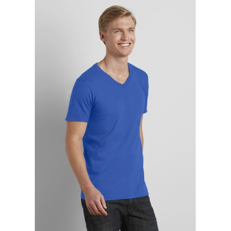 T-SHIRT HOMME COL VSOFT STYLE ADULT V-NECK T-SHIRT