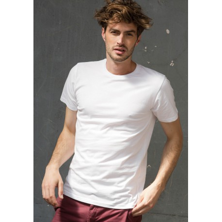 T-SHIRT HOMME EXTENSIBLE COL RONDFEEL GOOD T