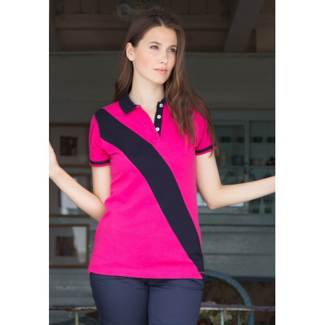 DIAGONAL STRIPE HOUSE POLO               POLO BANDE DIAGONALE FEMME