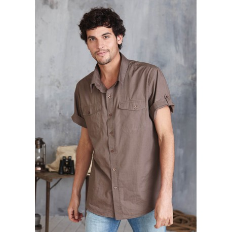 TROPICAL MEN - CHEMISE POPELINE MANCHES COURTES