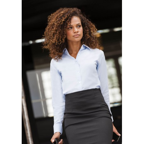 LADIES OXFORD SHIRT CHEMISE OXFORD FEMME MANCHES LONGUES