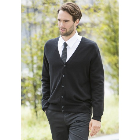 CARDIGAN HOMMEMEN'S V BUTTON CARDIGAN